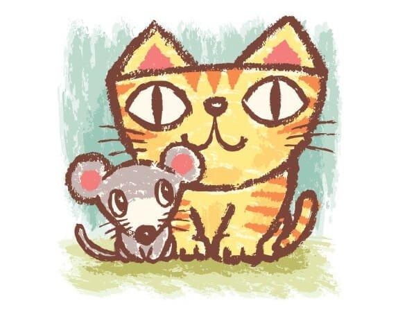 El gato y el ratón - Cuento de animales