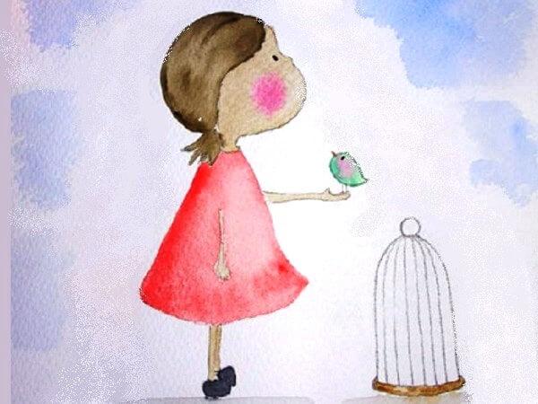 El ave y la niña - Cuento infantil sobre la libertad