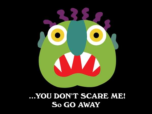 The scary monster - Cuento en inglés